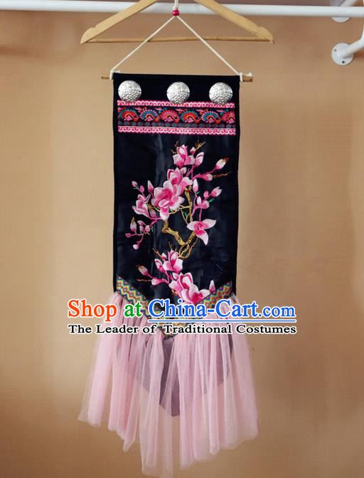 Traditional Handmade Chinese National Embroidery Miao Nationality Pendant for Women