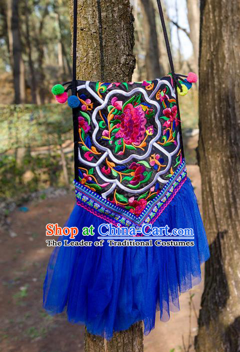 Traditional Handmade Chinese National Embroidery Miao Nationality Lace Bags for Women