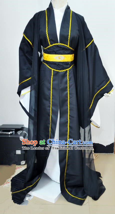 Chinese Ancient Cosplay Swordsman Prince Costumes, Chinese Traditional Clothing Chinese Cosplay Knight Costume for Men