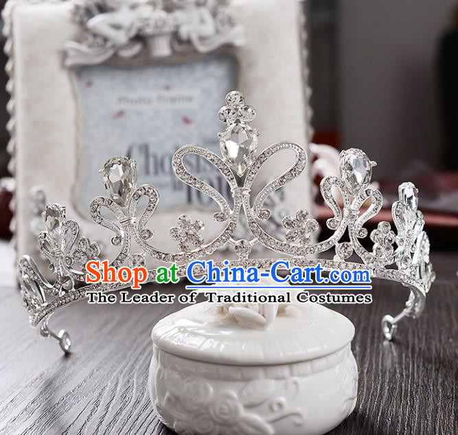 Top Grade Handmade Hair Accessories Baroque Crystal Royal Crown, Bride Wedding Hair Kether Jewellery Princess Imperial Crown for Women