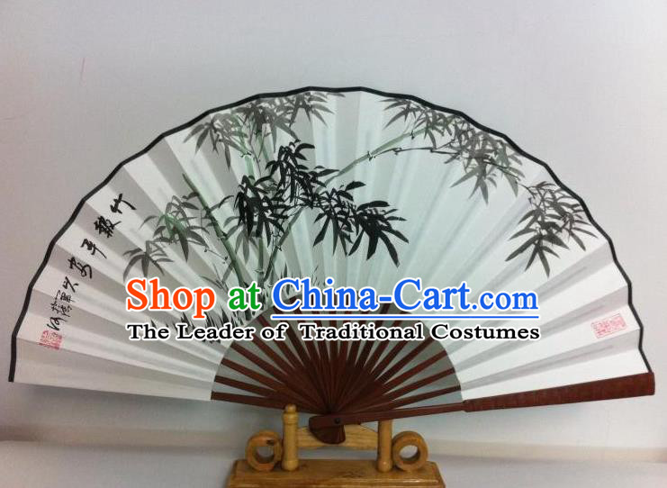 Traditional Chinese Crafts Peking Opera Folding Fan China Sensu Printing Bamboo White Paper Fan for Women