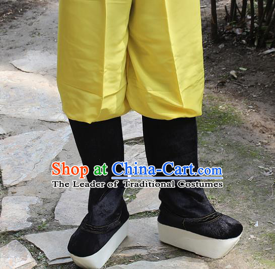 Traditional China Beijing Opera Officer Boots, Ancient Chinese Peking Opera Takefu Shoes