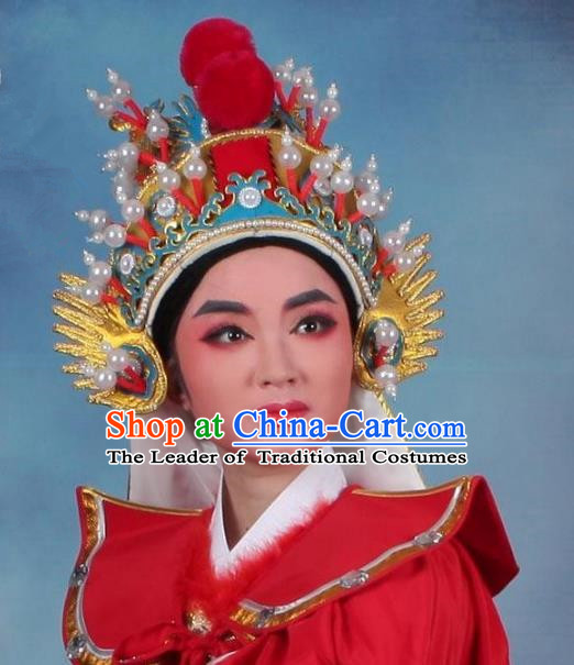 Traditional China Beijing Opera Young Men Hair Accessories General Headwear, Ancient Chinese Peking Opera Takefu Hat
