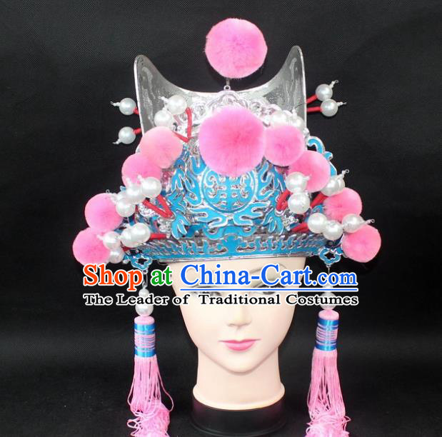 Traditional China Beijing Opera Lang Scholar Niche Hat, Ancient Chinese Peking Opera Eunuch Cap Headwear Prime Minister Hat
