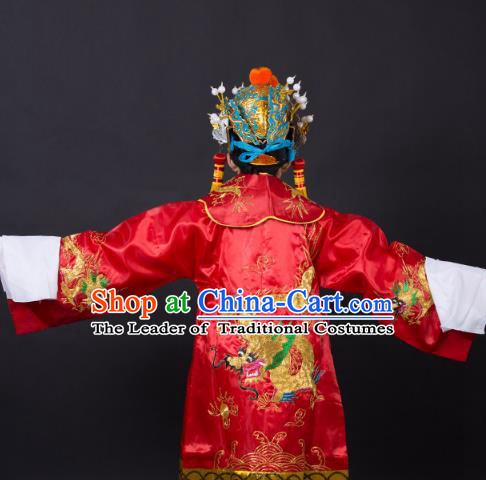 Traditional China Beijing Opera Niche Costume Gifted Scholar Embroidered Robe and Hat Ancient Chinese Peking Opera Embroidery Clothing
