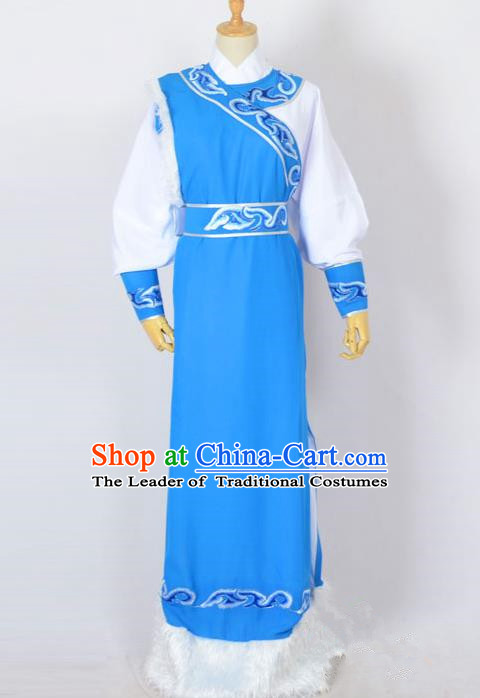 Traditional Chinese Professional Peking Opera Young Men Costume, China Beijing Opera Niche Prince Long Robe Clothing