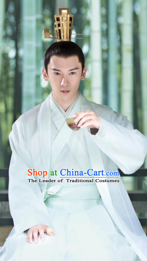 Traditional Chinese Tang Dynasty Prince Costume and Headpiece Complete Set, China Ancient Hanfu Clothing Nobility Childe Robe