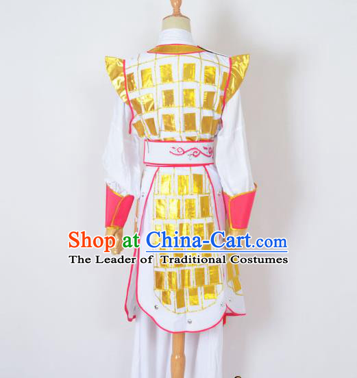 Traditional Chinese Professional Peking Opera Blues Costume, China Beijing Opera Shaoxing Opera Swordplay Female Warrior Uniform