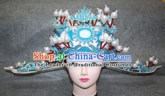 Traditional Handmade Chinese Ancient Classical Hair Accessories Peking Opera Niche Hat, China Beijing Opera Lang Scholar Headwear