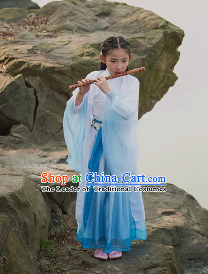 Traditional Chinese Hanfu Han Dynasty Girls Costume, Elegant Hanfu Clothing Chinese Ancient Princess Dress for Kids