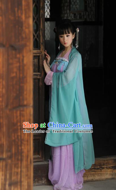 Traditional Chinese Tang Dynasty Imperial Concubine Costume Cardigan Fairy Dress, Elegant Hanfu Clothing Chinese Ancient Princess Clothing for Women