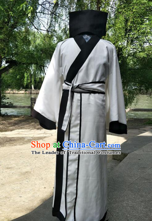 Traditional Chinese Ancient Scholar Costume, Chinese Han Dynasty Xiucai Hanfu Clothing for Men
