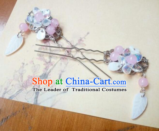 Traditional Chinese Ancient Classical Handmade Hair Accessories Palace Lady Tulip Hairpin, Hanfu Hair Stick Hair Fascinators Hairpins for Women