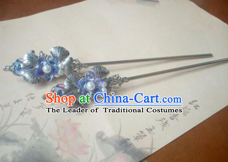 Traditional Chinese Ancient Classical Handmade Palace Lady Hairpin Hair Accessories, Hanfu Hair Stick Hair Fascinators Hairpins for Women