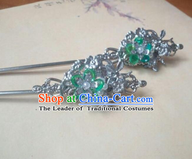 Traditional Handmade Chinese Ancient Classical Hanfu Hair Accessories Hairpins, Princess Headpiece Palace Lady Hair Stick for Women