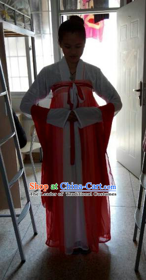 Traditional Asian Oriental Palace Lady Costumes, China Tang Dynasty Princess Hanfu Fairy Dress for Women