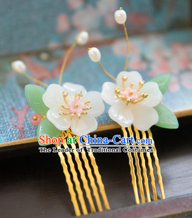 Chinese Handmade Classical Hair Accessories Hanfu Hair Comb, China Xiuhe Suit Hairpins Wedding Headwear for Women