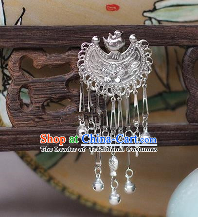 Chinese Handmade Classical Accessories Bride Tassel Hairpin, China Xiuhe Suit Bells Step Shake for Women