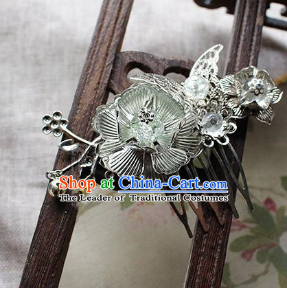 Chinese Handmade Classical Accessories Bride Tassel Hairpin, China Xiuhe Suit Hair Comb for Women