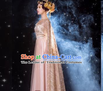 Traditional Ancient Chinese Imperial Concubine Fairy Costume, Elegant Hanfu Chinese Tang Dynasty Embroidered Clothing for Women