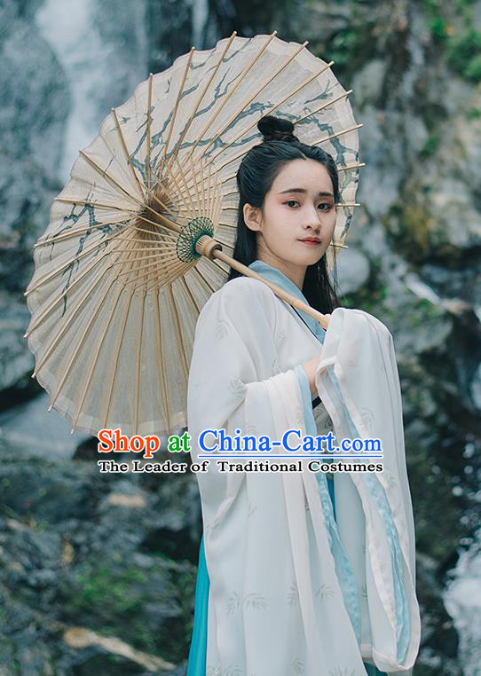 Traditional Chinese Ancient Palace Lady Costume, Asian China Jin Dynasty Princess Embroidered Dress Clothing for Women