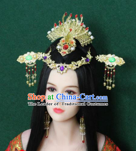 Traditional Handmade Chinese Hair Accessories Empress Headpiece, Han Dynasty Princess Hairpins Headwear for Women