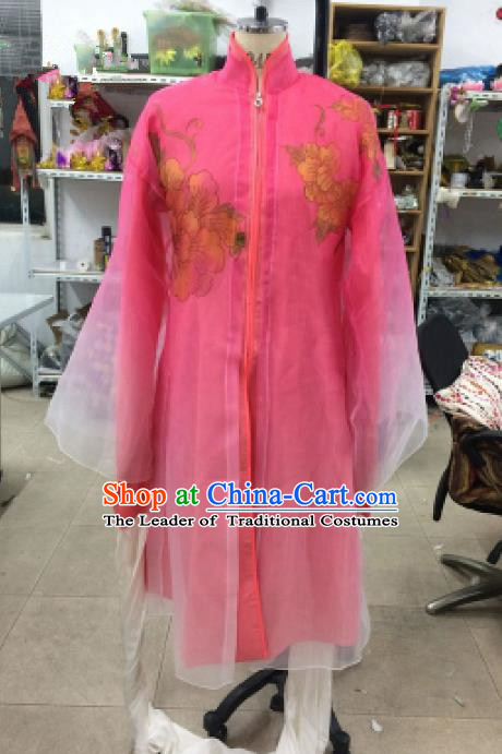 Traditional Chinese Peking Opera Dance Water Sleeve Pink Costume, China Ancient Beijing Opera Hua Tan Fairy Dance Clothing for Women