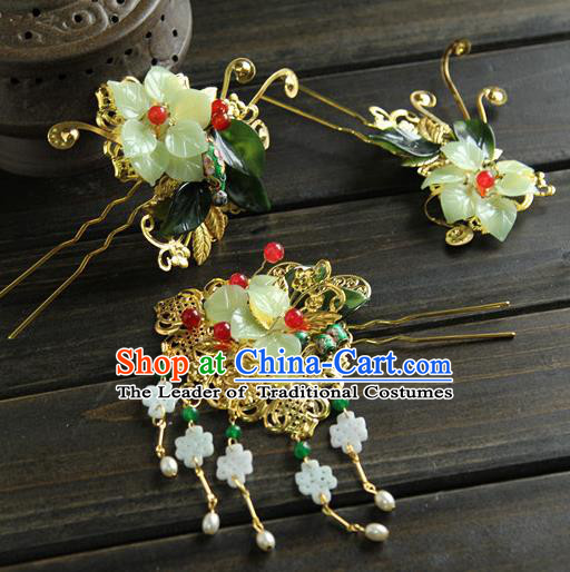 Traditional Handmade Chinese Qing Dynasty Manchu Lady Hair Accessories, China Ancient Imperial Concubine Hairpins for Women