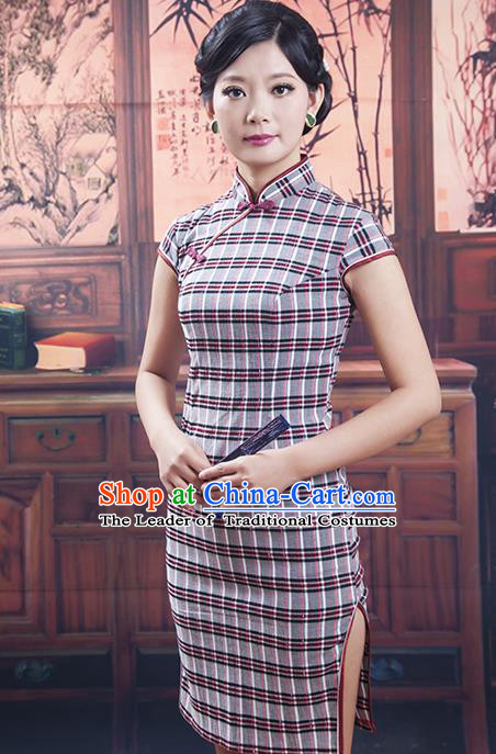 Traditional Ancient Chinese Republic of China Young Lady Short Cheongsam, Asian Chinese Chirpaur Qipao Dress Clothing for Women