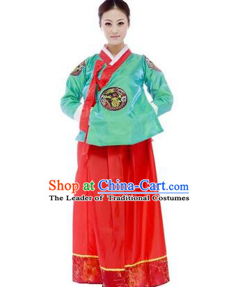 Traditional Ancient Korean Costumes, Asian Korean Hanbok Clothing for Women