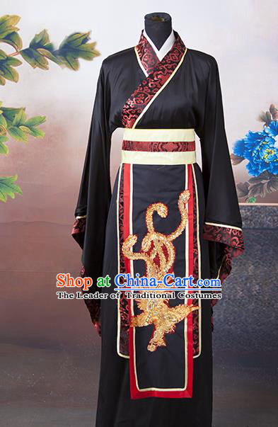 Traditional Ancient Chinese Majesty Costume, Asian Chinese Han Dynasty Emperor Robe Clothing for Men