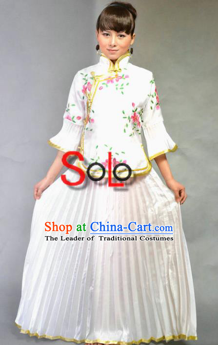 Traditional Ancient Chinese Nobility Lady Costume, Asian Chinese Republic of China Embroidered Clothing for Women