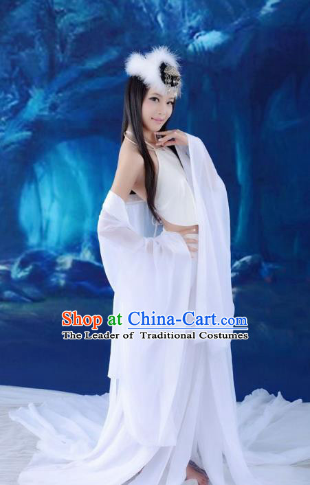 Traditional Ancient Chinese Tang Dynasty Imperial Concubine Costume, Elegant Hanfu Clothing Chinese Palace Lady Fox Spirit Dress Clothing for Women