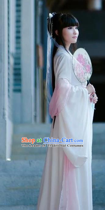 Traditional Ancient Chinese Fairy Embroidered Costume, Elegant Hanfu Chinese Tang Dynasty Imperial Princess Clothing for Women