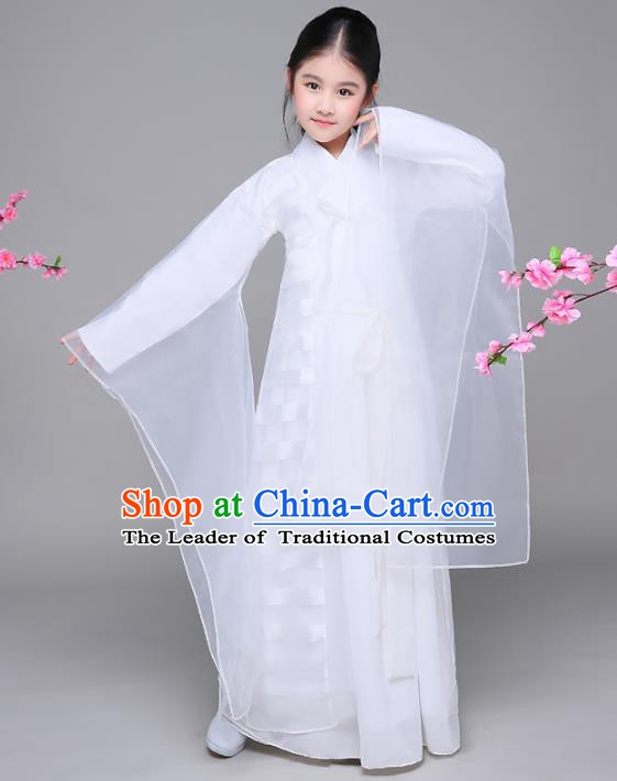 Traditional Chinese Tang Dynasty Fairy Children Costume, China Ancient Princess Hanfu Dress for Kids