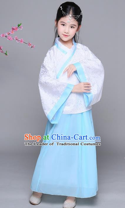 Traditional Chinese Han Dynasty Princess Costume, China Ancient Palace Lady Hanfu Clothing for Kids