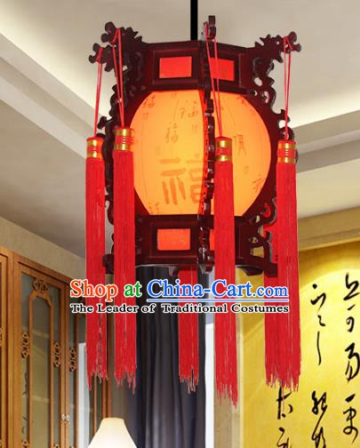 Traditional Chinese Handmade Wood Printing Lantern Classical Palace Lantern China Ceiling Palace Lamp