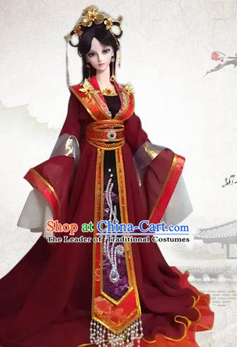 Traditional Chinese Han Dynasty Imperial Concubine Costume Ancient Fairy Embroidered Hanfu Clothing for Women