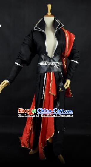 Traditional Chinese Ming Dynasty Swordsman Costume Ancient Cosplay Imperial Bodyguard Clothing for Men