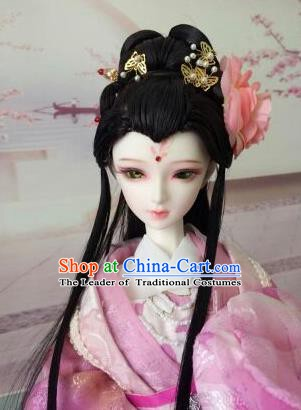 Traditional Handmade Chinese Tang Dynasty Palace Princess Fairy Hair Accessories Hairpins and Wig for Women