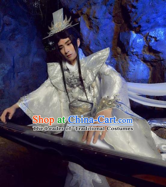 Traditional Chinese Ancient Royal Highness Costume, China Tang Dynasty Swordsman Clothing for Men