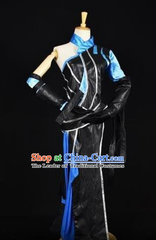 Traditional Chinese Ancient Cosplay Swordswoman Costume Tang Dynasty Young Lady Clothing