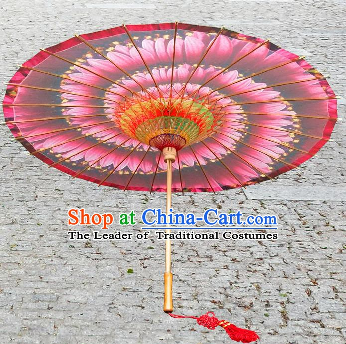 China Traditional Dance Handmade Umbrella Ink Painting Red Oil-paper Umbrella Stage Performance Props Umbrellas