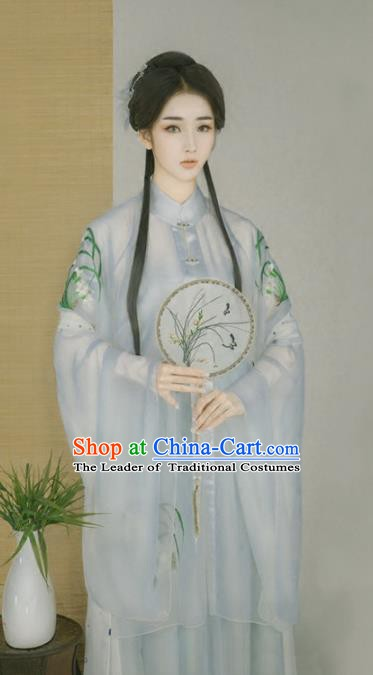 Asian Chinese Ancient Imperial Princess Costume Ming Dynasty Young Lady Clothing and Headpiece Complete Set