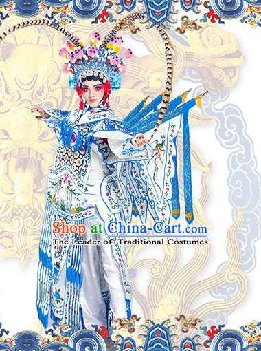 Asian Chinese Beijing Opera Magic Warriors Clothing and Headpiece Complete Set