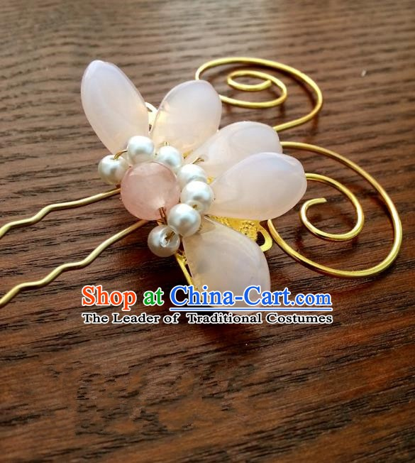 Traditional Handmade Chinese Classical Hair Accessories Hair Claw Ancient Princess Hairpins for Women