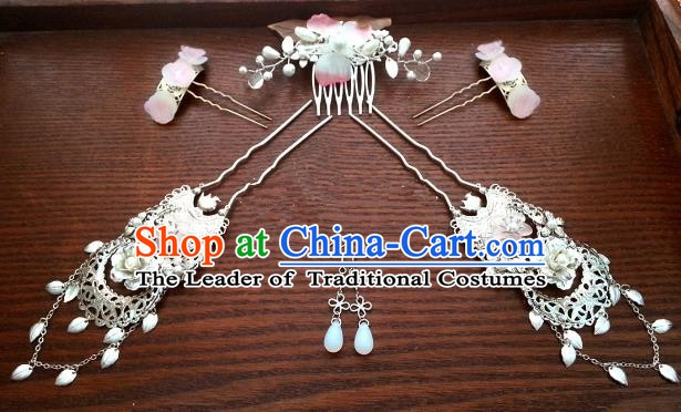 Handmade Traditional Chinese Classical Hair Accessories Ancient Bride Hanfu Hairpins Hair Comb for Women