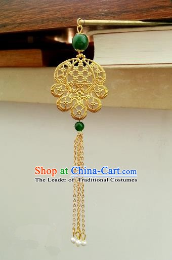 Traditional Handmade Chinese Classical Hair Accessories Ancient Princess Golden Hairpins Hair Stick for Women