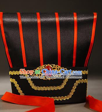 Asian Chinese Han Dynasty Minister Hats, Traditional China Ancient Chancellor Headwear