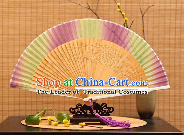 Traditional Chinese Crafts Silk Folding Fan Sensu Fans for Women